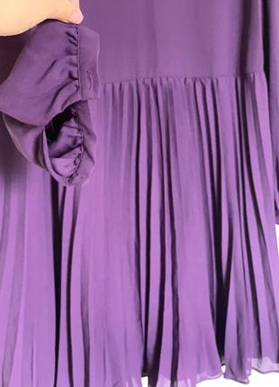 Платье с гофрированной юбкой 48-50р