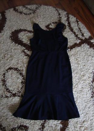 Платье стильное, деловое, нарядное , рюшки, фальбана