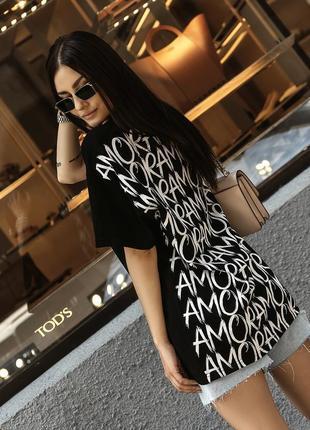 Модная базовая футболка с принтом на спине