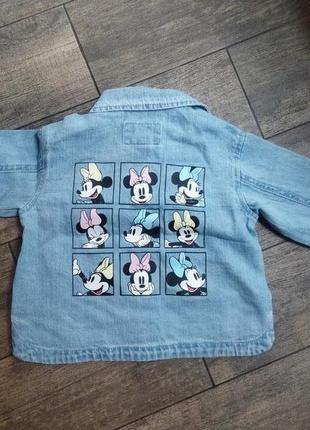 Zara джинсовая куртка- рубашка для девочки 12-18 мес.
