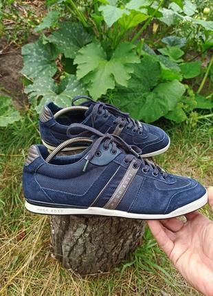 Крутые кроссовки мокасины кеды кросівки кеди мокасіни hugo boss 42 р оригинал