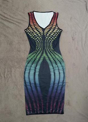 Очень крутое стрейчевое платье миди