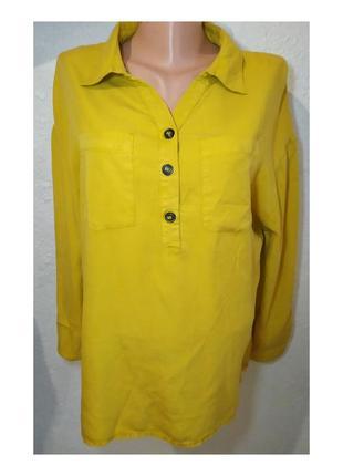 Актуальная блуза, рубашка, сорочка, удлинённая, туника, яркая, с карманами, стильная, модная, трендовая