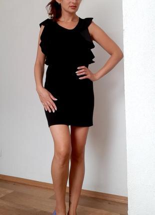 Черное платье. сарафан с воланами