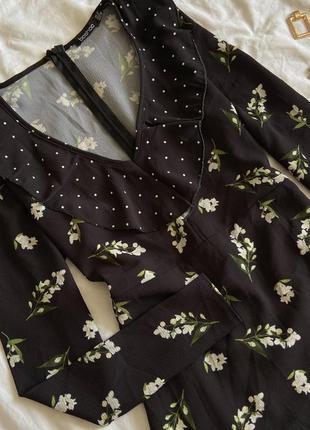 Платье в цветочный принт и горох new look2 фото
