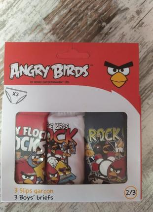 Набор 3 шт трусики на 2-3 года трусы angry birds