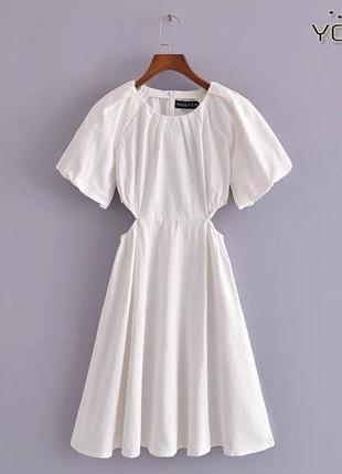 Женское белое вечернее платье зара сукня купить платья