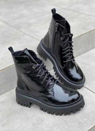 Шикарные ботинки натуральная кожа наплак