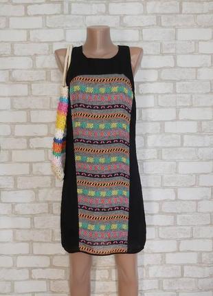 """Новое мини платье со 100% шелка с имитацией """"вышивка"""" спереди и сзади, размер хс"""
