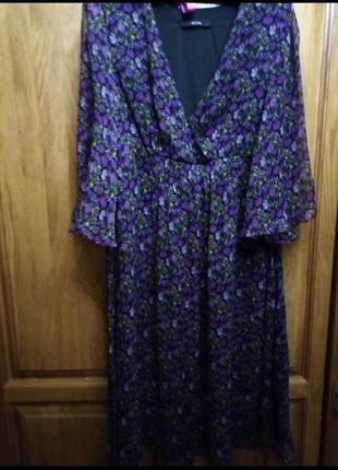 100% шелк натуральный нежное платье цветочный принт south
