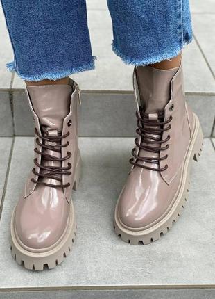 Ботинки натуральная кожа наплак