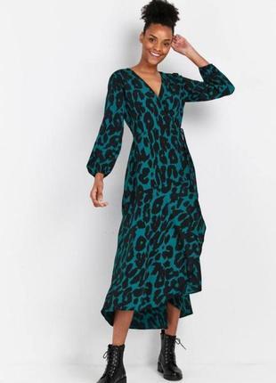 Платье миди на запах 20 размер сукня міді 20 розмір