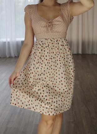 Легкое котоновое платье