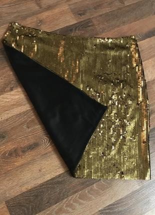 Мини юбка в паетках золотистая yes or no yes or no