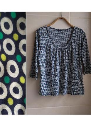 Хлопковая летняя блуза marc o polo