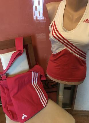 Комплект майка и сумка adidas оригинал