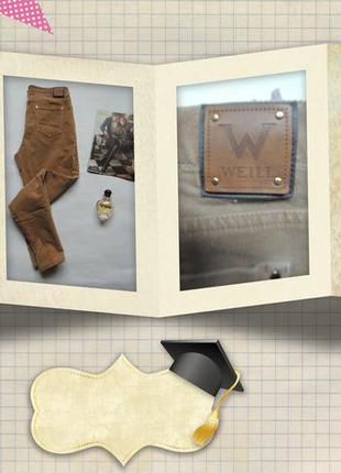 Фирменные вельветовые джинсики