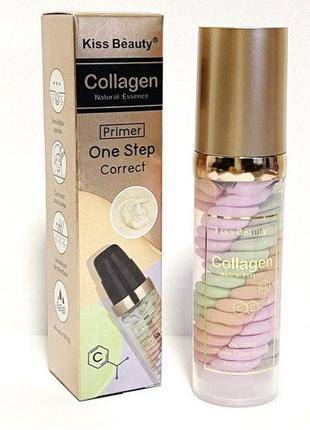 Основа под макияж collagen primer one step correct трёхцветная 40мл