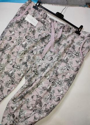 Байковые пижамные штаны большого размера