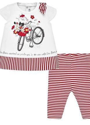 Комплект: футболка и леггинсы mayoral для девочек на 80, 86, 92 см