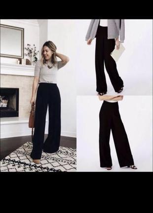 Широкие чёрные брюки штаны кюлоты с высокой талией missguided  🍉