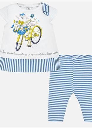 Комплект костюм футболка и леггинсы mayoral на рост 80, 86, 92, 98 см