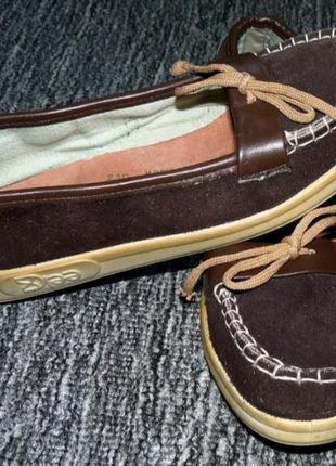 Замшевые туфли, мокасины