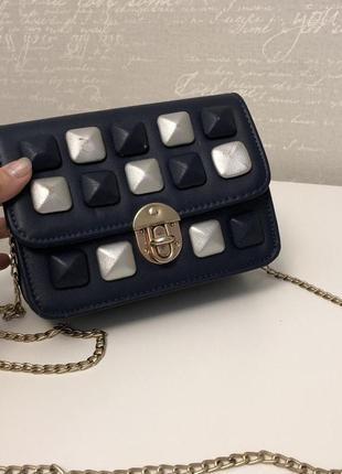 Мини сумочка клатч с декором