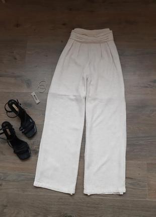 Льняные штаны. лляні штани.широкие штаны