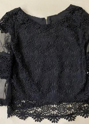 Блузка з мереживом,250 грн