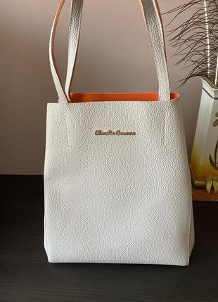 Стильна яркая сумка шопер claudia canova
