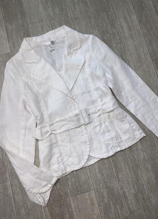 Пиджак белый лён h&m