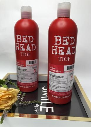 Tigi шампунь и кондиционер для ослабленных и ломких волос  750 мл