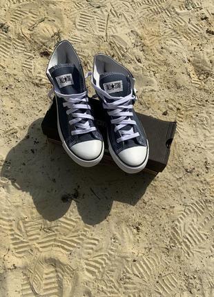 Синие кеды converse, мужские и женские1 фото
