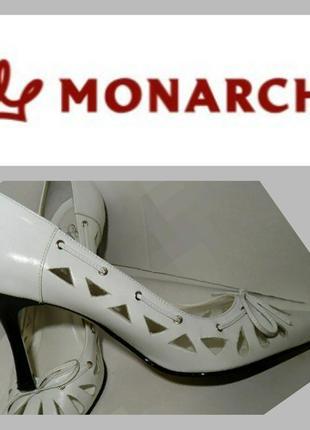 Туфли женские натуральная кожа белые monarch