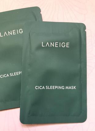 Ночная маска с центеллой laneige cica sleeping mask