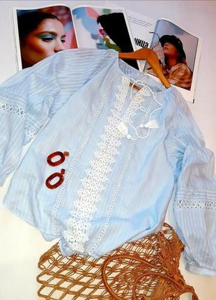 Рубашка вышиванка с объёмными рукавами
