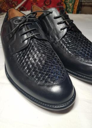 Мужские кожаные туфли manz премиум