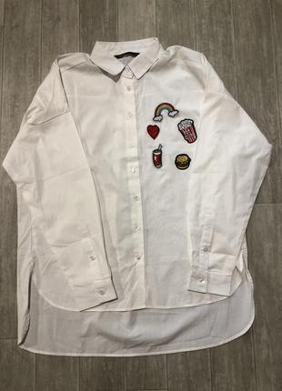 Рубашка белая новая oodji