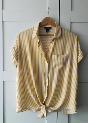 Блузка рубашка женская с коротким рукавом оверсайз / из вискозы / new look