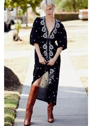 Платье из натуральной ткани на пуговицах zara h&m asos