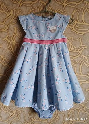 Чудесное нежное платье с трусиками m&co  для малышки 2/3 года