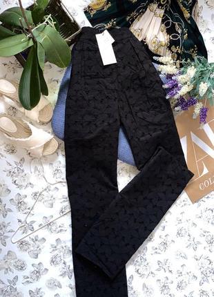 Широкие брюки из прошвы на высокой посадке из новой коллекции zara