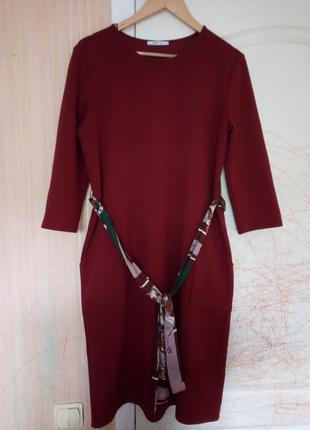 Платье  zara с накладными карманами