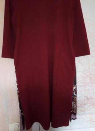 Платье  zara с накладными карманами2 фото