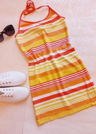 Платье плаття сукня трикотажна коттон хлопок бавовна пляжна спортивне туніка туника