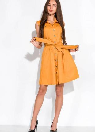 Платье-рубашка с поясом жилетка сарафан на заклепках пуговицах с пуговицами8 фото
