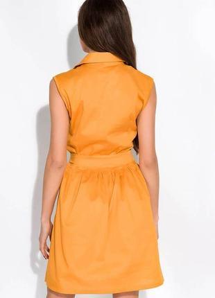 Платье-рубашка с поясом жилетка сарафан на заклепках пуговицах с пуговицами9 фото