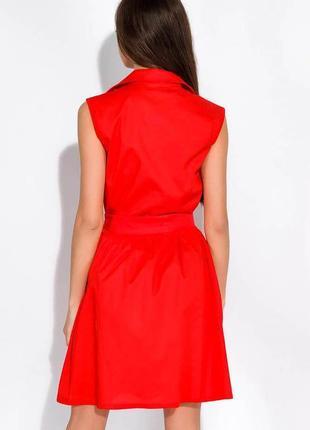 Платье-рубашка с поясом жилетка сарафан на заклепках пуговицах с пуговицами7 фото