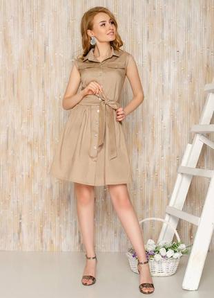Платье-рубашка с поясом жилетка сарафан на заклепках пуговицах с пуговицами2 фото